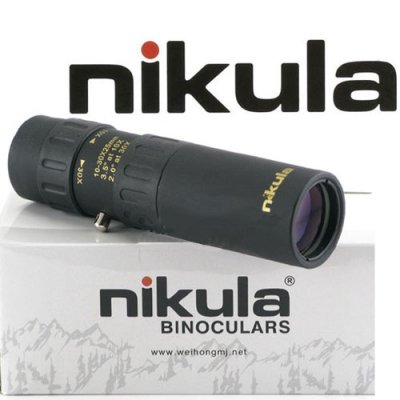 Nikula 10 - 30 x 25 High Power Pockedt-Size Monocular Telescopes - Small Bugler